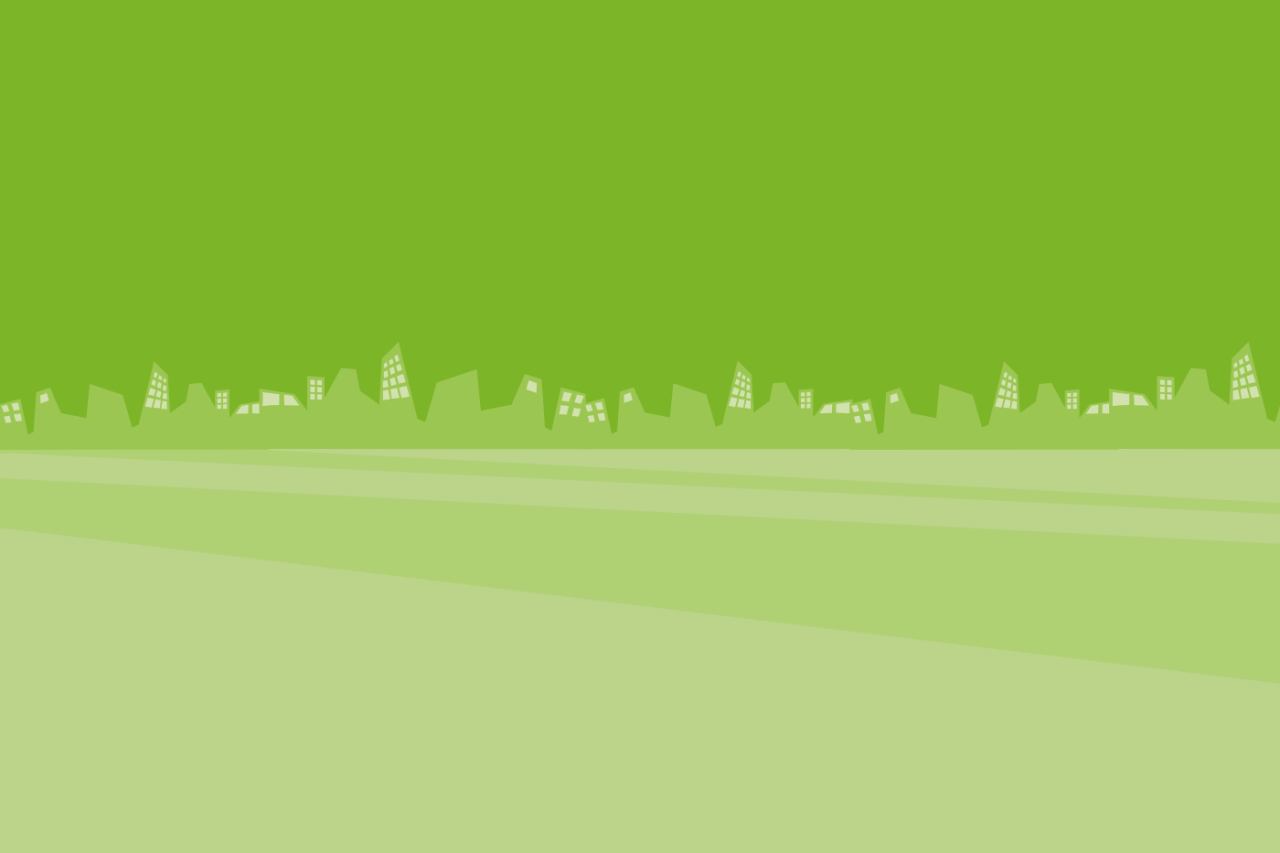 green background image with houses