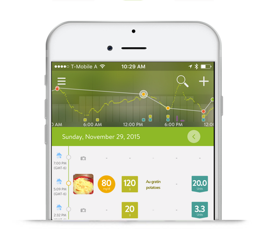 mysugr logbook and continuous glucose monitor cgm data diabetes