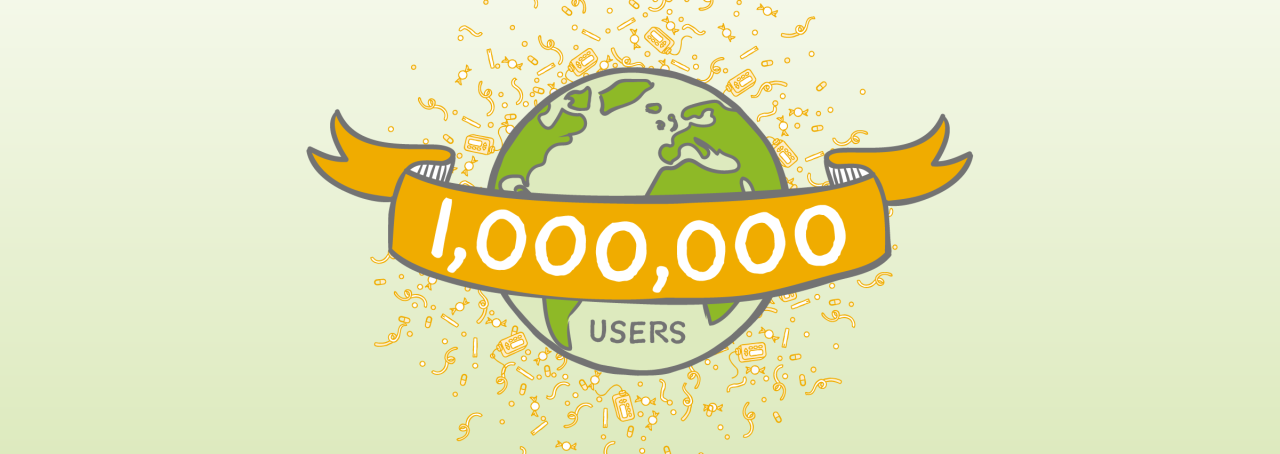 1 million users! Wow! Thank you!