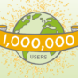 1 million mySugr users with diabetes confetti