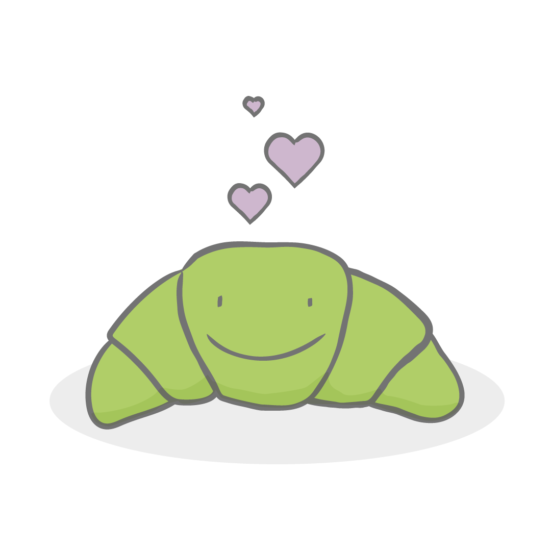 mySugr illustrated croissant with hearts