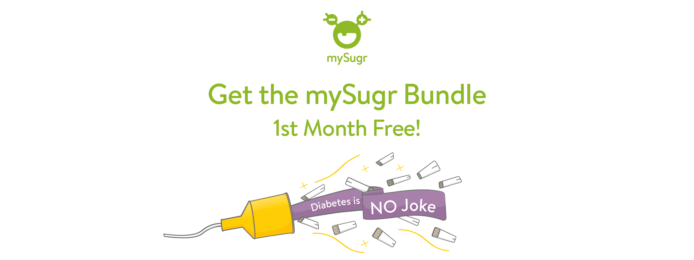Diabetes is no joke - mySugr Bundle promotion