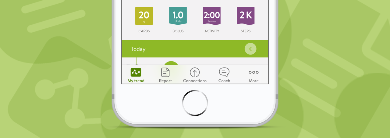 New mySugr iOS navigation bar